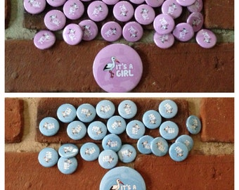 It's A Boy or It's a Girl 2.25 Inch and 1 Inch Buttons