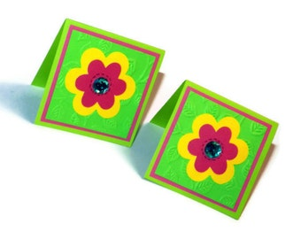 Bright flower cards - set of 6 (MC2)