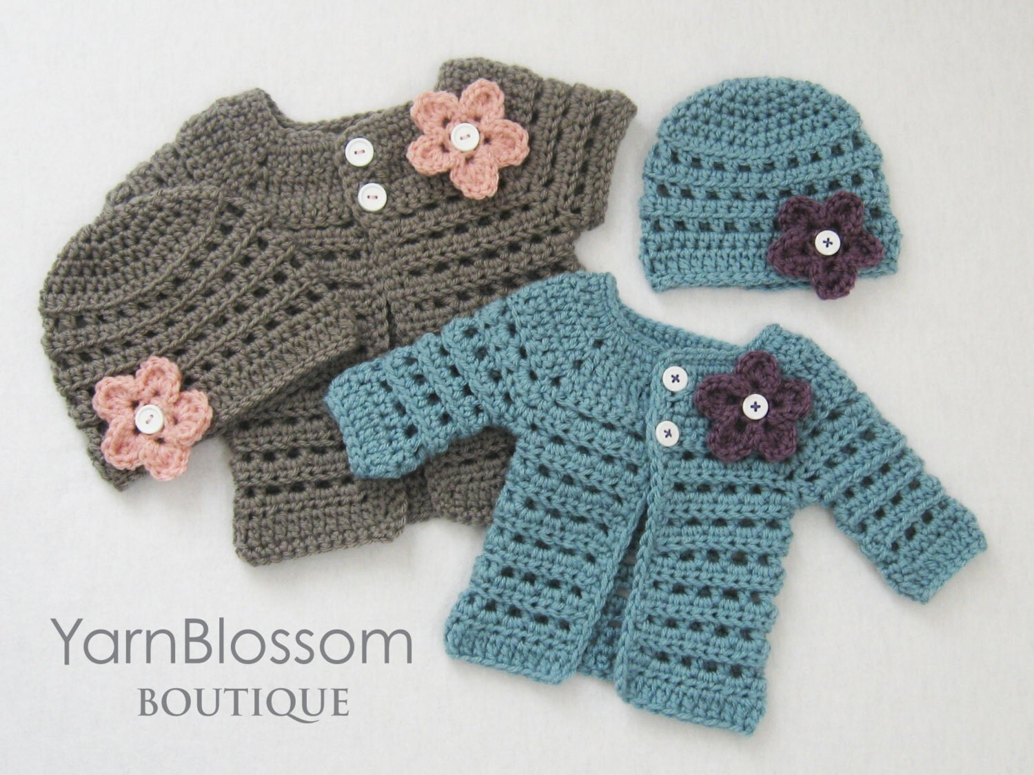 Crochet pattern mini miss cardigan beanie baby sweater zoom bankloansurffo Image collections