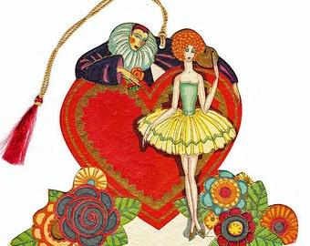 COLDOUTSIDESALE 15% OFF1920s Hallmark Valentine Bridge Tally Card- Art Deco