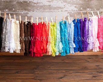 CHOOSE 3 PAIRS- 30 Colors Ruffle Bottom Stretch Lace Leg Warmers- One size fits most.