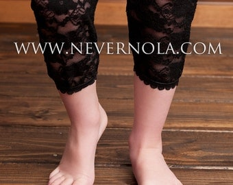 BLACK Footless tights or 6 COLORS to CHOOSE from- Lace Leggings Tights for Infant - Toddler