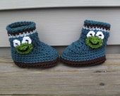 Froggie Striped Boots
