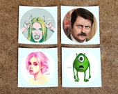 Colorful Characters Sticker Set