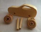 Wooden Toy Car -KIT-Made from Recycled Wood