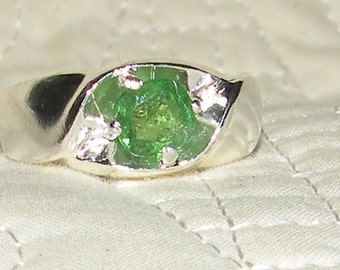 Mens Tsavorite Ring