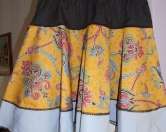 Three layers summer circle short skirt  - size S, ready to ship