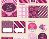 """Instant Download - Flowers and Lace Bridal Shower - """"The Essentials"""" PRINTABLE Party Collection"""