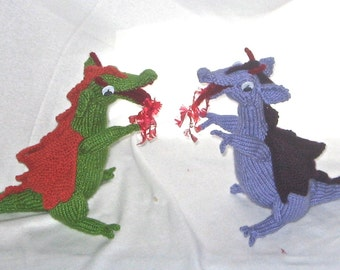 Toy Dragon - KNITTING PATTERN – pdf file by automatic download