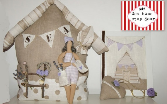 Beach house pattern pdf sewing pattern home by for Art decoration pdf