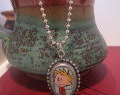Calvin and Hobbes: blue calvin pendant