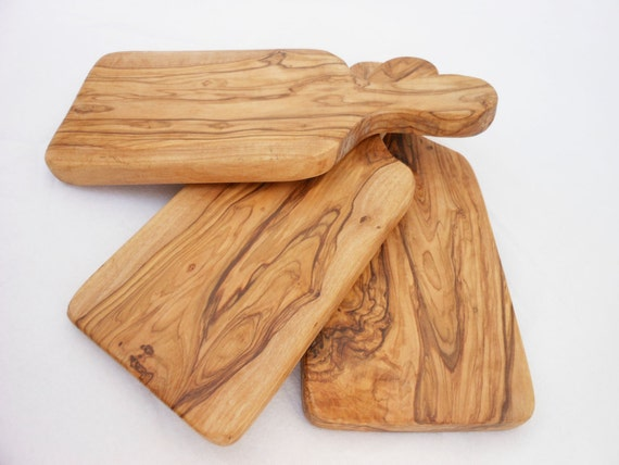 Olive wood rustic cheese cutting board set wooden chopping