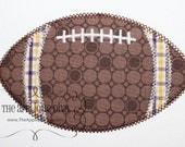 Fall Football Embroidery Design Machine Applique