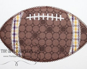 Fall Football Embroidery Design Machine Applique