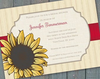 bridal shower invitations 16th birthday party sunflower bridal shower sunflower invitations sunflower