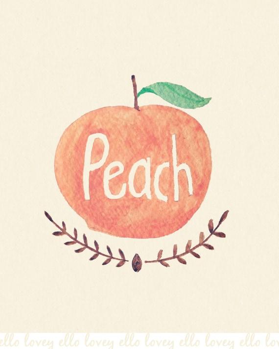 Peach - 8x10 Art Print