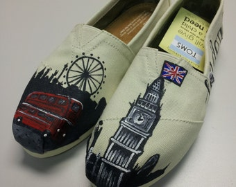 LONDON SKYLINE handpainted TOMS shoes