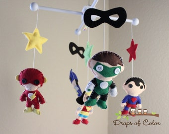 Baby Mobile - Baby Crib Mobile - Nursery Super Heroes Mobile (You Can Pick Your Own Custom Heroes)