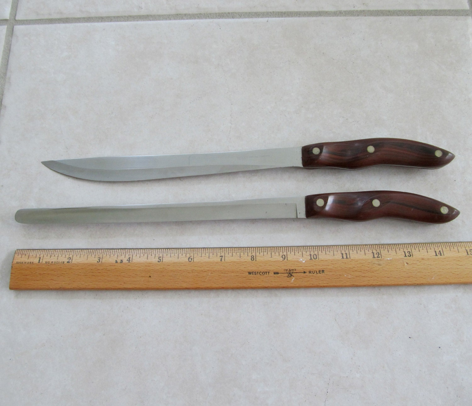 Cutco Kitchen Knives Carving And Bread Knife No 23 And 24