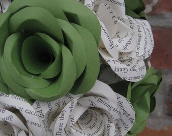 Custom BOOK Wedding Bouquets. You Pick The Colors, Paper, Etc.  Anything Is Possible. CUSTOM Orders Welcome.