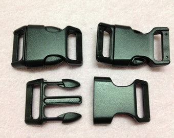 "10pc Black 1"" (25mm) Heavy Duty Contoured Side-release Buckles"