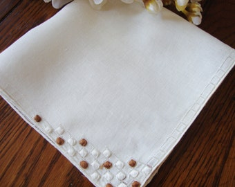 French Linen Hankie 1920s