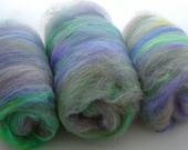 Hand Carded Batts Shetland Merino Mohair Silk 100g