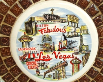Las Vegas Souvenir Ashtray, Mosaic Ashtray from Las Vegas