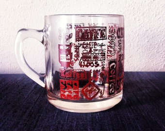 Any Way You Say // Novelty Typography Clear Coffee Mug Glass