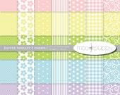 Easter Digital Scrapbook Paper  -  Easter Shelley 2 (darker) -- INSTANT DOWNLOAD