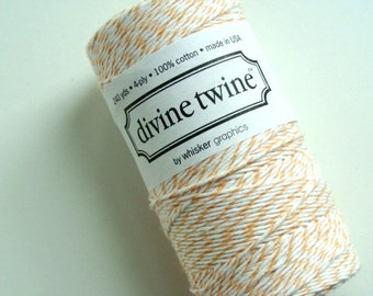 Peach Divine Twine - Full Spool of Bakers Twine - 240 yards