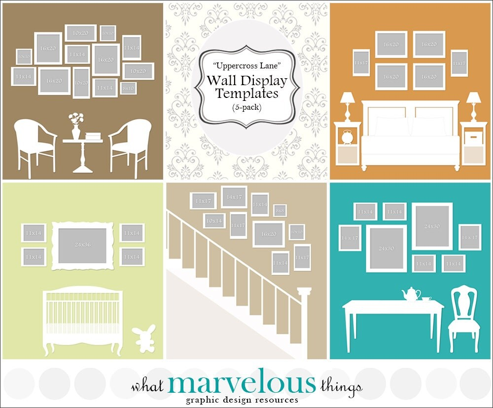 Photo wall display templates the - Photo wall display template ...