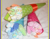 SALE PRICE-Baby Boy, Girl, or Neutral Washcloth Flower Bouquet - Beautiful Baby Shower Or Gift Idea