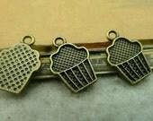 50pcs 11x16mm The Ice cream Antique Bronze Retro Pendant Charm For Jewelry Bracelet Necklace Charms Pendants C3625