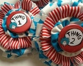 Dr. Seuss Thing One & Thing Two Barrettes