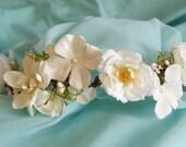 Flower Hair Crown, Bohemian Flower Crown, Woodland Hair, Floral Headband, Boho Bride Coachella Hair