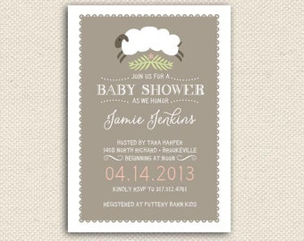 Printable Baby Shower Suite, Baby Shower Invitations, Baby Shower, Thank you cards, games also available, choose colors
