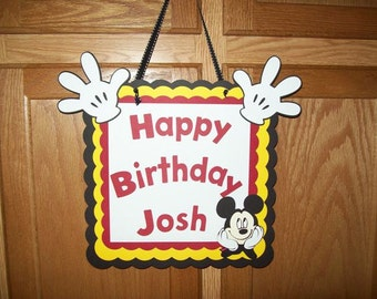 MIckey Mouse Sign/ Happy Birthday/Party Supplies