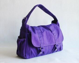 Pico2, Purple, Shopping Bag, Shoulder Bag, Messenger Bag, Diaper Bag, School Bag, College Bag, Women,For Her