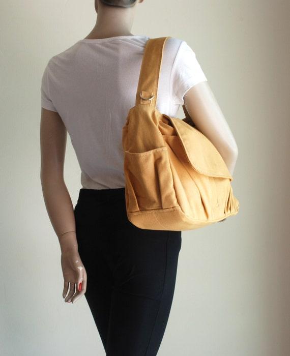 Pico in Mustard (Water Resistant) Messenger Bag / Diaper bag / Women / Laptop / Handbag/Diaper Bag/ School Bag/ Women /For Her/ Gift