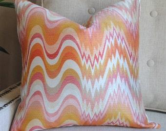 Designer Pillow Cover-18x18 Acid Palm-Nectar-Jonathan Adler-Spring Pillow