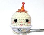Crocheted Amigurumi - Birthday baby MochiQtie - amigurumi doll toy with mochi love