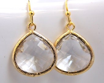 clear earrings for work items similar to white earrings glass l work earrings 1597