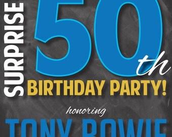 50th Birthday Party Invitation: Digital File