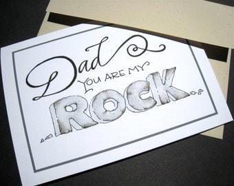 Dad You Are My Rock Father's Day Card - Birthday Card for Dad