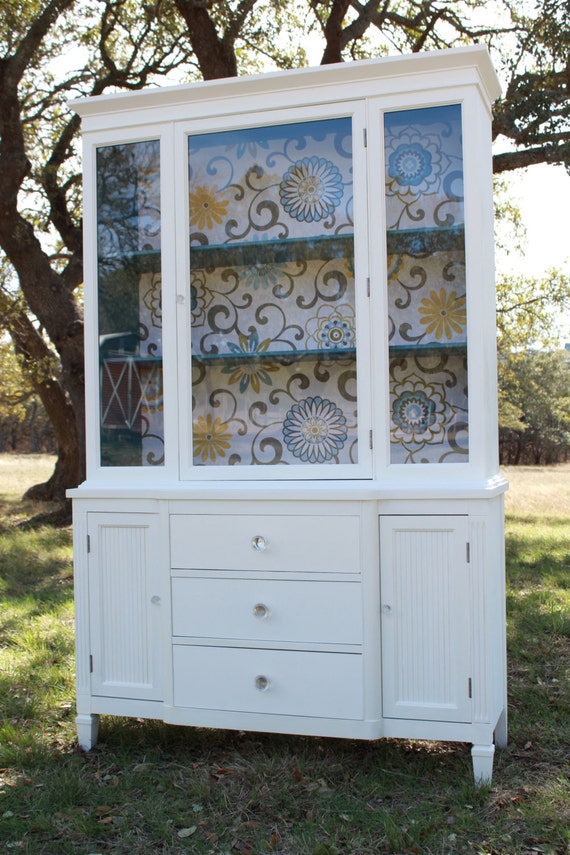Modern bathroom linen cabinets - Modern Cottage Painted China Cabinet Reserved For By