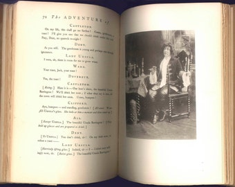 A Play by Anthony Hope, The Adventure of the Lady Ursula, A Comedy in Four Acts, Illustrated with Stage Photographs  - 1898 Antique Book