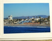 CHRISTMAS in JULY sale now 2.00 A View of Oceanside  CA from The Pier 5x7 photo greeting card