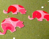 50 pink with pink bubbles MODERN ELEPHANT DECOR  Baby Shower Confetti, Birthday party ,scrapbooking, cards 50 cs