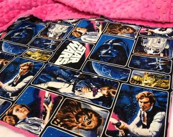 Princess, Leia, Fuchsia, Dot Minky, Blanket